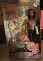 Barbie Doll Posh Pets Cat Kitten Style Complete in Box - $16.40