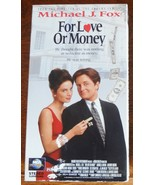 For Love Or Money VHS Michael J Fox Gabrielle Anwar Anthony Higgins - $1.99
