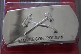 Usn Navy Uss Ship Shore Air Damage Controlman Em & Po Rate Specialty Belt Buckle - $24.70