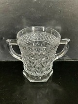 "Vintage Imperial Cape Cod Crystal Hexagon Footed Sugar Bowl 3 1/2"" - $10.00"