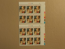USPS Scott 2399 25c Christmas Botticelli 1988 Plate Block Lot of 2 Mint NH - $11.46