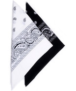 2 Color Pack Bandanas for Men and Women - Cotton Bandana + Soft and Dura... - $7.99+