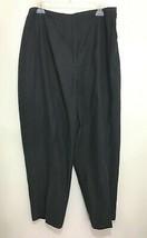 Laura Ashley Womens 16 Black Silk Linen Slacks Pants NEW  - $47.53