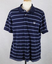Ralph Lauren Chaps Mens Blue Striped Polo Shirt Size XL - $14.84