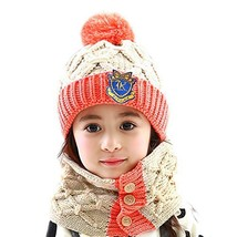 Baby/Child Cute Cap Handmade Hat Knitting Winter Warm Hat+Scarf 6 months-4 years
