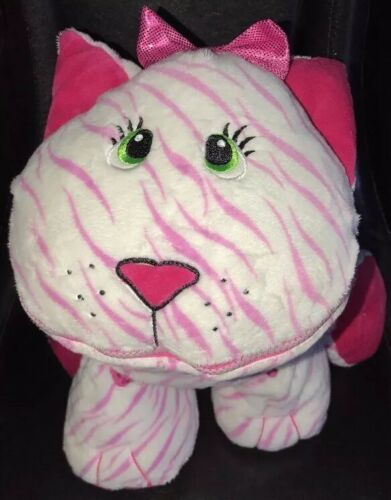 Primary image for Stuffies Whisper Kitty Cat Plush Stuffed Animal Toy Storage Pink & White