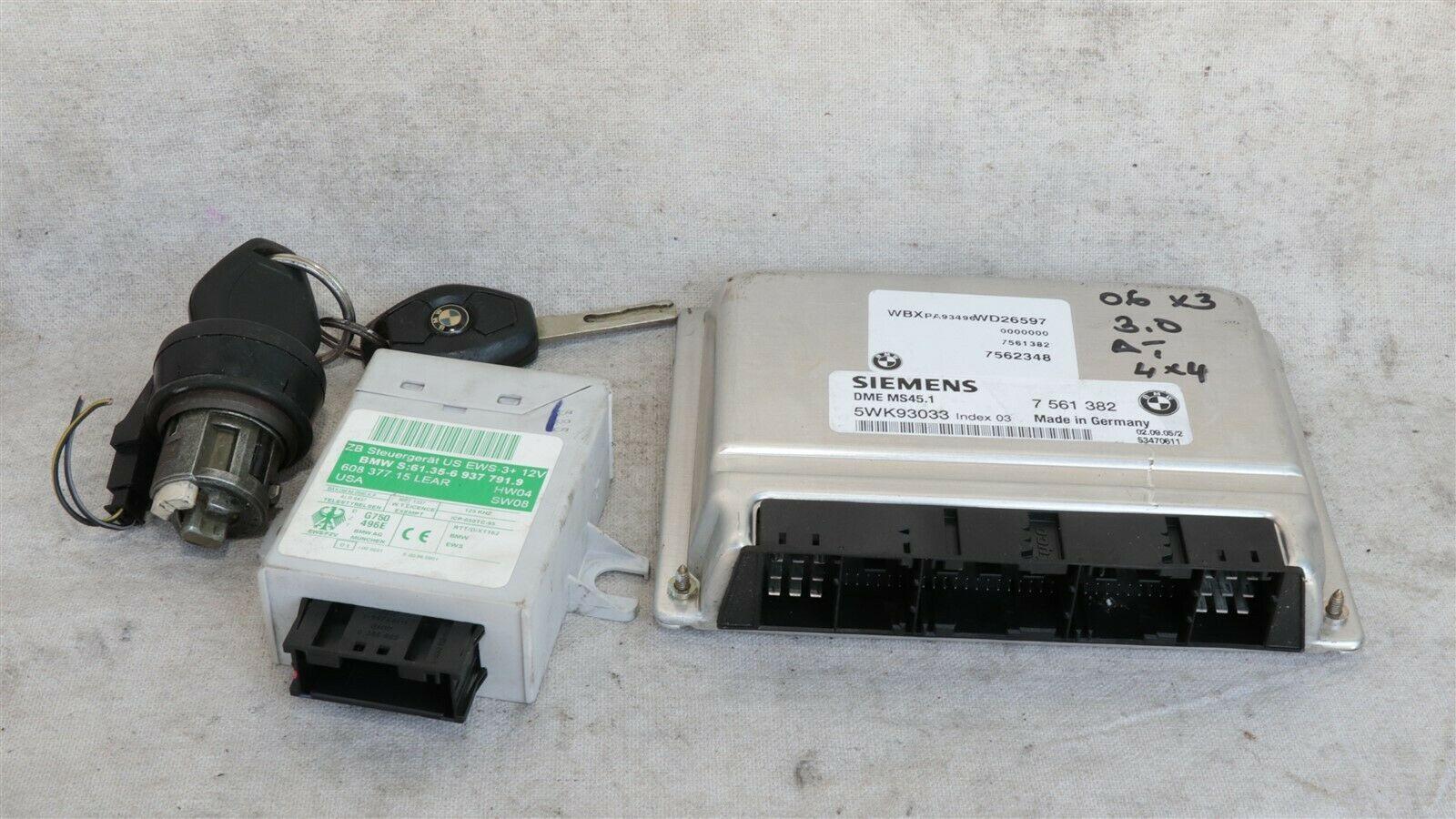06 Bmw X3 3.0i N52 Engine Control Module Computer Ecu Ecm Ignition Immo 7561382