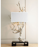 """NEW Mesquite Silver Tree Branch Table Lamp 51"""" Tall Faux Bois Modern Hor... - $1,385.01"""