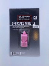 SMITTY | PINK | Pealess Whistle With Cushion | WH14C-PINK | Referee Offi... - $9.49