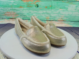 Silver metallic, Sherpa Lined Fashion Slippers - $35.50