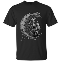 Astronaut Digging the moon - Navy, Black Retro Vintage T-Shirt Men's Clo... - $18.76+