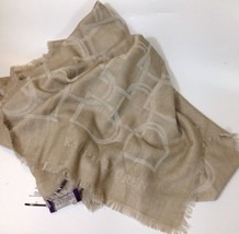 Ralph Lauren Womens Ladies Beige Cashmere / Wool Scarf Shawl RRP £530 - $384.68
