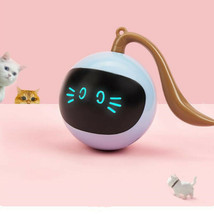 Pet Smart Interactive Cat Toy Colorful LED Self Rotating Ball USB Rechar... - £13.23 GBP