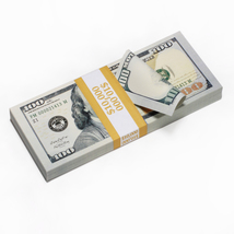 PROP MOVIE MONEY - FAKE MONEY Real Look New Style Copy $100s FULL PRINT - $14.00
