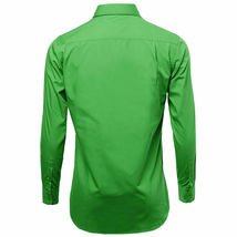 Omega Italy Men's Green Dress Shirt Long Sleeve Regular Fit w/ Defect - M image 3