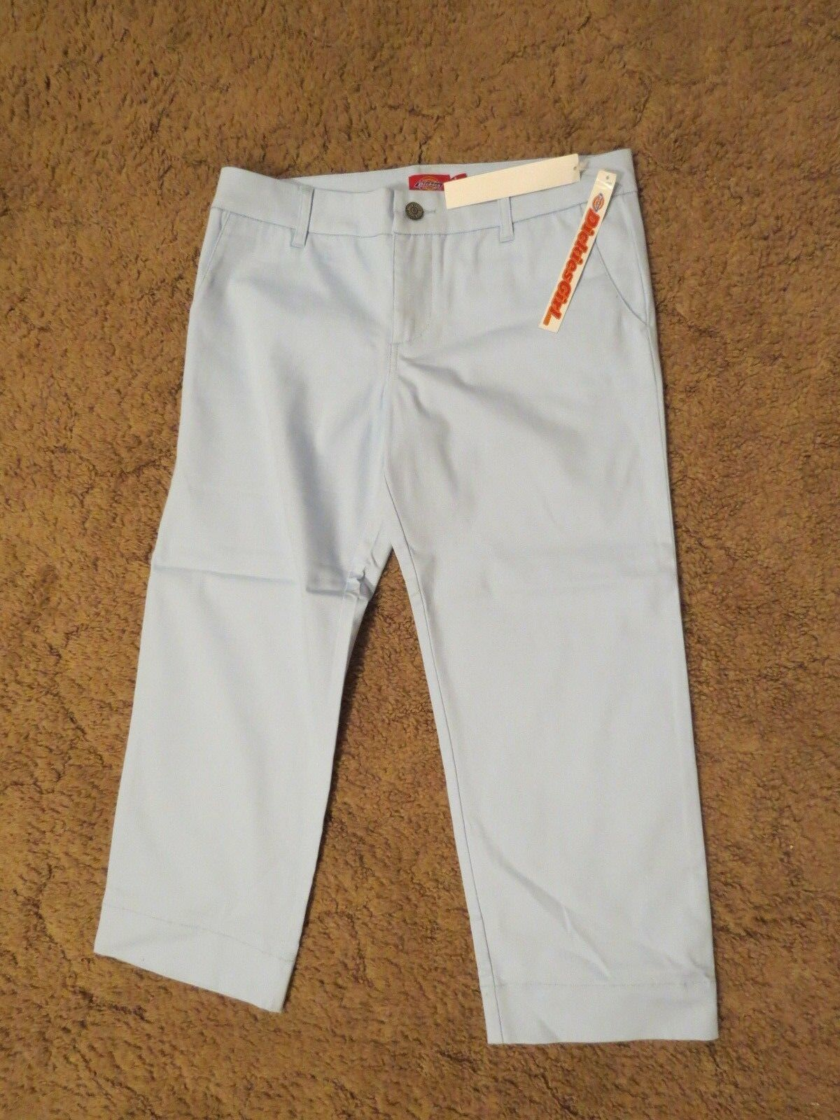 Primary image for Dickies Girls Stretch Capri pants, Size 9, Waist 34