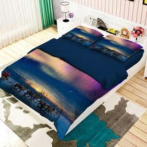 3D Night View Animal 26 Bed Pillowcases Quilt Duvet Single Queen King US Summer - $102.84+