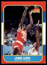 1986-87 Fleer Basketball Premier Lewis Lloyd Houston Rockets #65 OF 132 - $0.50