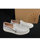 Ugg Australia Cas Glitter Sequins cakewalk Loafer Sneaker Silver sizes 1... - $89.99