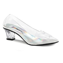 CRY103/C Women's Cute Low Heel Clear Cinderella Princess Costume Pumps 2... - $44.95