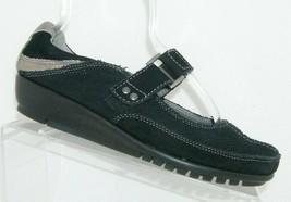 Aerosoles 'Book End' black suede hook and loop mary jane sneakers 8.5M - $31.43