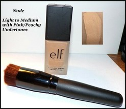 NEW & SEALED  e.l.f.  Flawless Finish Liquid Foundation   NUDE   - $5.95