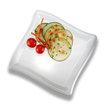 Clear 7 Inch Square Wave Plastic Dessert Plates/Set of 120 - $91.68