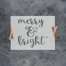 Merry & Bright Stencil - Reusable Stencils of Merry & Bright in ... - $5.99+