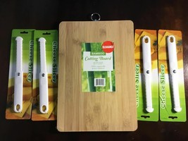 BAMBOO ORGANICALLY GROWN CUTTING BOARD AND 4 CHEESE SLICERS BRAND NEW - $11.87