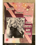 ACEO ATC Art Card Collage Original Ladies Women Alcohol Tobacco Firearms... - $5.00