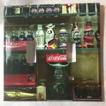 Coke Coca-Cola Mini Old Light Switch Outlet wall Cover Plate Home Decor image 4