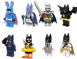 8pcs Swim Rabbit Black White Suit Batman with Black Wings Lego Minifigur... - $16.25