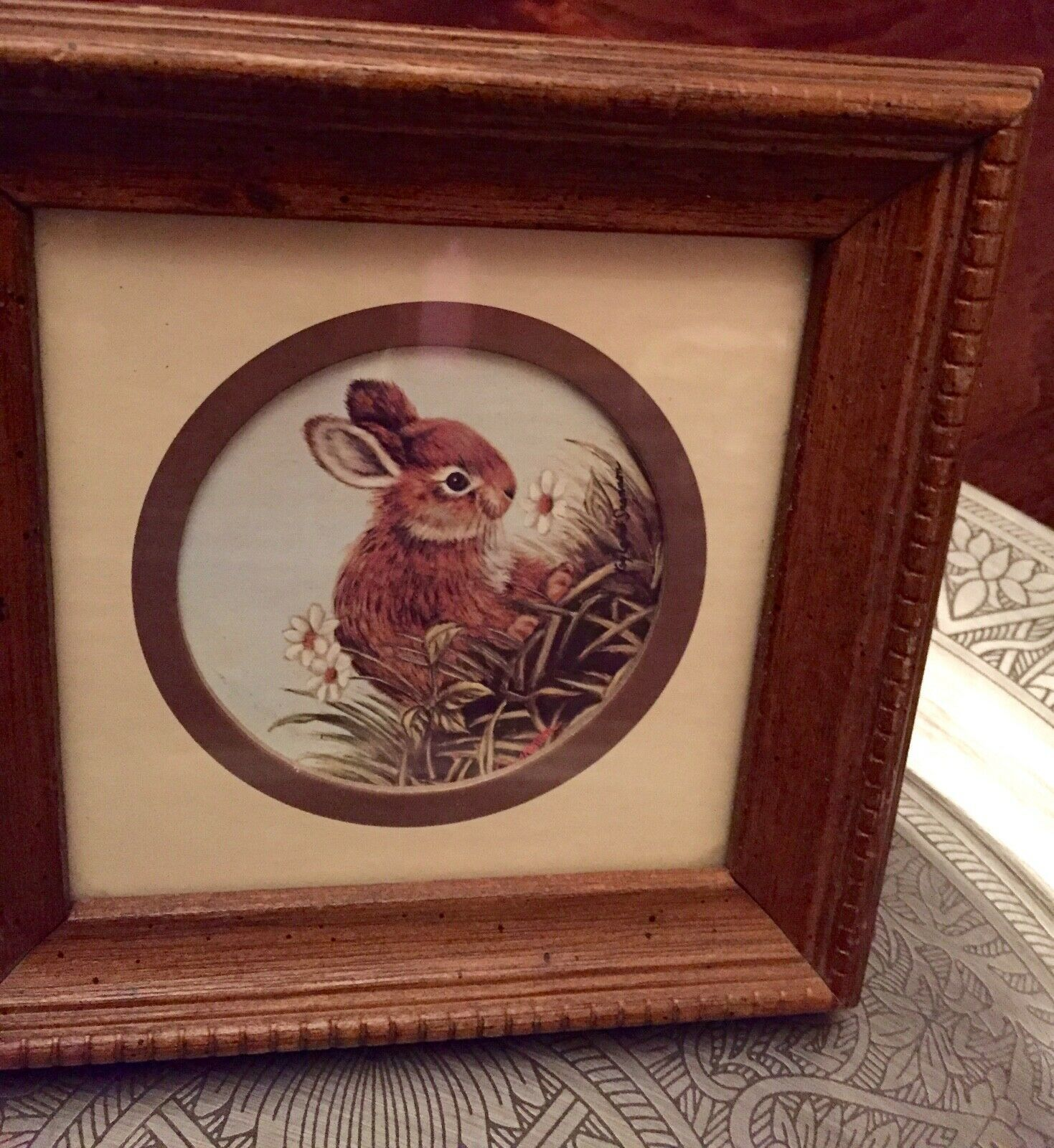 Primary image for Kay Lamb Shannon Bunny Rabbit in Grass Meadow framed Print