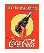 Coca Cola It's The Real Thing Tin Sign Reproduction - $5.94