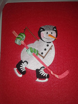 "17"" Personalized Embroidered Hockey Snowman Felt Christmas Stocking - $12.95"