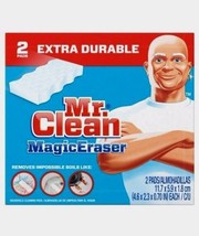 2 Pads! New Mr. Clean MAGIC ERASER Extra Power Cleaning Sponges Kitchen ... - $6.28