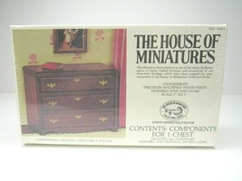 Vintage House of Miniatures Chippendale 3 Drawer CHEST 40011 Doll Furniture NEW - $14.84