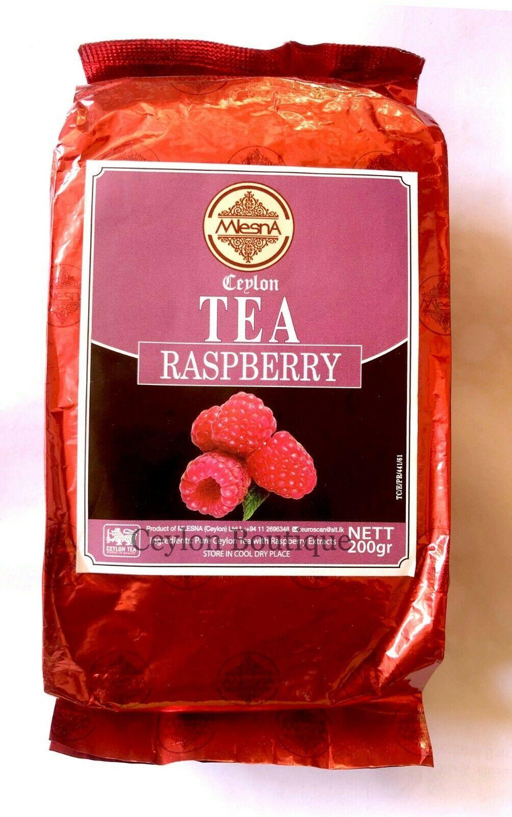 Mlesna Flavored Raspberry 200g Loose Black Tea - $14.36
