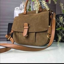 MICHAEL KORS ROMY DESERT KHAKI BROWN LARGE CROSSBODY MESSENGER BAG LEATH... - $209.00