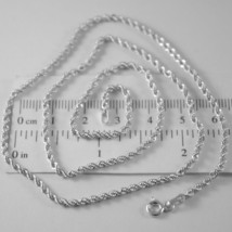 Braided Rope Chain In White Gold 750 18k, 40 45 50 60 cm, thickness 2.5 MM image 1