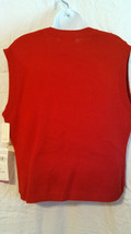 NWT Alfred DunnernKnit Sweater Vest Womens Size 8    RED   Office/ Career   NWT image 2