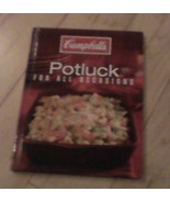 Campbells Potluck For All Occasions Recipe Book HARDBACK Read Gift Resale - $7.99