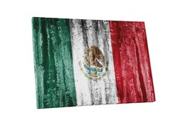 "Pingo World 0621Q6AWKOG ""Vintage Mexico Flag"" Gallery Wrapped Canvas Wall Art, 3 - $54.40"