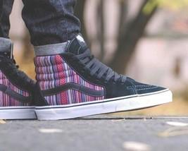 VANS Sk8 Hi (Guate Weave) Black/Multi Stripes Men's Skate Shoes High Top - $57.95