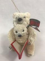 Pottery Barn Bottlebrush Mama and Baby Bear Ornament, New in Box - $17.09