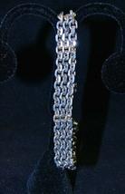 """Vintage Goldette NY 3 Strand Chain Bracelet 2Tone Fancy 7 1/4"""" x 3/8"""" - $14.50"""