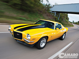 1972 CHEVROLET CAMARO Z28 (Yellow) POSTER | 24 x 36 INCH | muscle car |  - $18.99