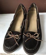 Sperry TOP-SIDER Women Wedge Size 8.5 M Suede Brown - $14.96