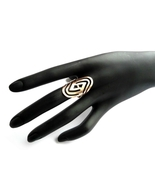Long Ring, Ornament Ring, Copper Ring, Rose Gold Color, Boho Ring, Long ... - $22.00