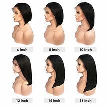 Short Bob Human Hair Wigs Brazilian Straight Virgin Human Hair Lace Front Wigs H image 7